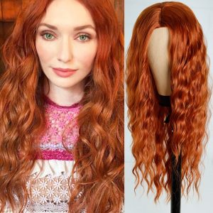 FEELSI Long Water Wave Hairstyle Wigs